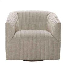 Sete Strip Linen Swivel Arm Chair