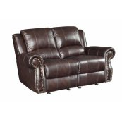 Sir Rawlinson Tobacco Leather Reclining Loveseat