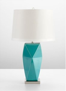 Hoku Table Lamp Cyan Blue