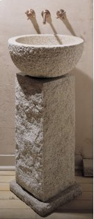 Vessel Pedestal and Pedestal Countertop Beige Granite Product Image