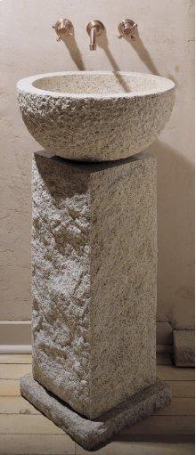 Vessel Pedestal and Pedestal Countertop Beige Granite