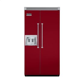 """Apple Red 42"""" Quiet Cool™ Side-by-Side with Dispenser - VISB Tru-Flush™ (42"""" wide)"""