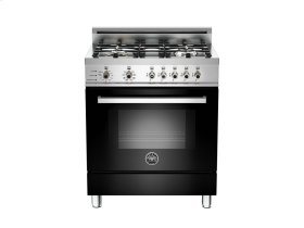 30 4-Burner, Electric Self-Clean Oven Black