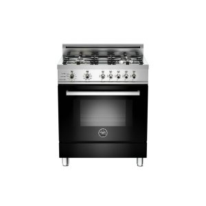 30 4-Burner, Electric Self-Clean Oven Black - Black