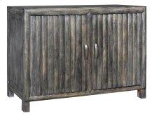 Bengal Manor Mango Wood 2 Door Grey Ribbed Cabinet