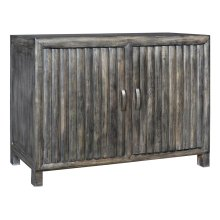 Bengal Manor Mango Wood 2 Door Grey Ribbed Cabinet