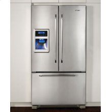 """36"""" Freestanding French Door Refrigerator with Ice and Water Dispenser"""
