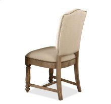 Coventry Upholstered Side Chair Weathered Driftwood finish