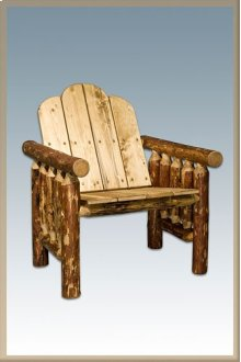 Glacier Country Log Deck Chair