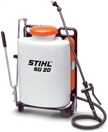 A manual backpack sprayer for professionals that maintains constant pressure.