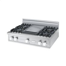 "White 36"" Custom Sealed Burner Rangetop - VGRT (36"" wide, four burners 12"" wide griddle/simmer plate)"