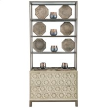 Santa Barbara Drawer Chest with Metal Deck in Textured Cameo (385)