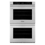 """Dacor27"""" Double Wall Oven, Silver Stainless Steel with Flush Handle"""