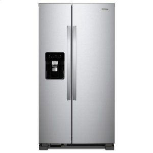 WhirlpoolWhirlpool® 36-inch Wide Side-by-Side Refrigerator - 24 cu. ft. - Monochromatic Stainless Steel