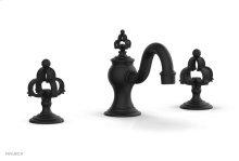 COURONNE Widespread Faucet Cross Handles 163-01 - Matte Black