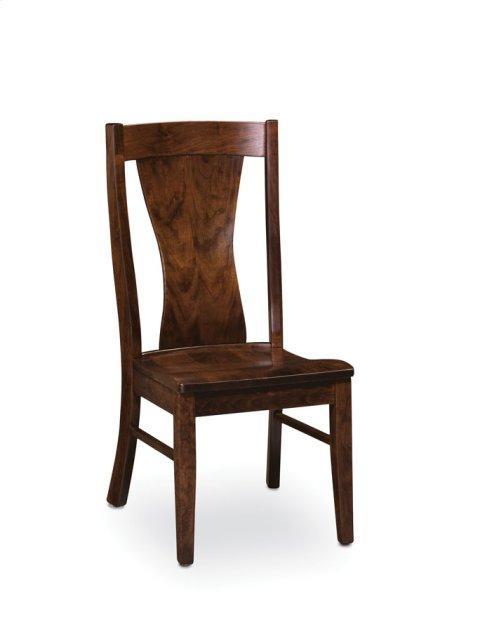 Joseph Side Chair, Leather Cushion Seat