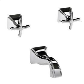 Oil-Rubbed-Bronze-Hand-Relieved Wall Mount Tub Faucet