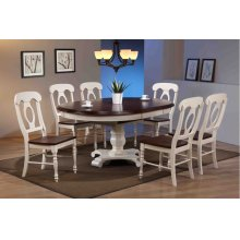 DLU-ADW4866-C50-AW7PC  7 Piece Butterfly Leaf Dining Set  Napoleon Chairs