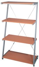 "4-tier Shelf, Silver/beech, 30""WX14.5""DX51""H Product Image"