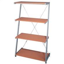 """4-tier Shelf, Silver/beech, 30""""WX14.5""""DX51""""H"""