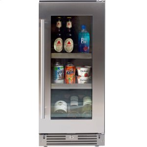 XO APPLIANCE15in Beverage Center SS Glass RH