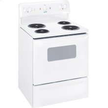 "MCBS523DMWW - White Moffat Moffat 30"" Free Standing Electric Standard Clean Range"