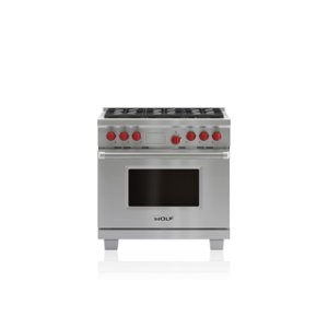 "Wolf36"" Dual Fuel Range - 6 Burners"