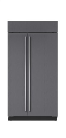 """42"""" Built-In Side-by-Side Refrigerator/Freezer with Internal Dispenser - Panel Ready"""