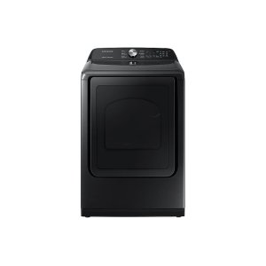Samsung 7.4 Cu. Ft. Gas Dryer With Steam Sanitize+ In Black Stainless Steel