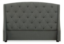 Queen-Sized Jordan Button Tufted Wing Headboard in Espresso