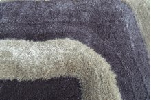 3D Rug Brown and Grey colors