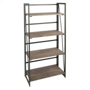 Dakota Bookcase - Black Metal, Wood Product Image