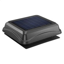 Curb Mount, Solar Powered Attic Ventilator in Black