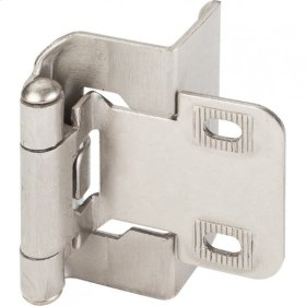"1/2"" Overlay Full Wrap Hinge Satin Nickel"
