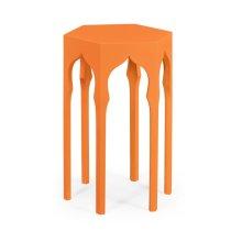 Hexagon Lamp Table (Pumpkin Cream)