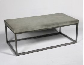 Cocktail Table-concrete Top Finish-silver Base-rta