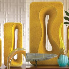 Rectangular Amoeba Vase-Yellow-Sm