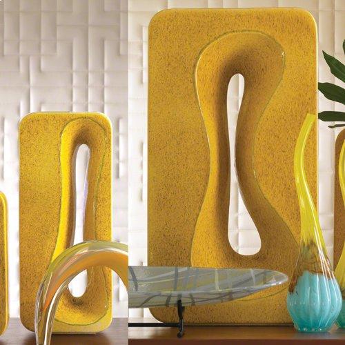 Rectangular Amoeba Vase-Yellow-Sm