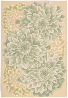 Fantasy Fa10 Light Green Rectangle Rug 3'6'' X 5'6''