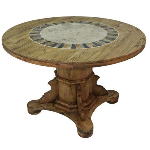 """48"""" Round Ped Table W/Stone"""