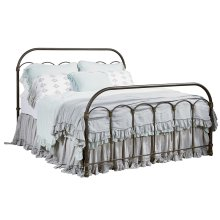 Blackened Bronze Colonnade Metal Queen Bed