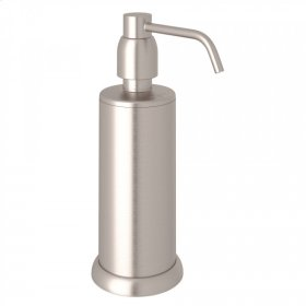 Satin Nickel Perrin & Rowe Holborn Free Standing Soap Dispenser