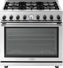 """Range NEXT 36"""" Panorama Stainless steel 6 gas, electric oven, self-clean"""
