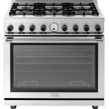 "Range NEXT 36"" Panorama Stainless steel 6 gas, electric oven, self-clean"
