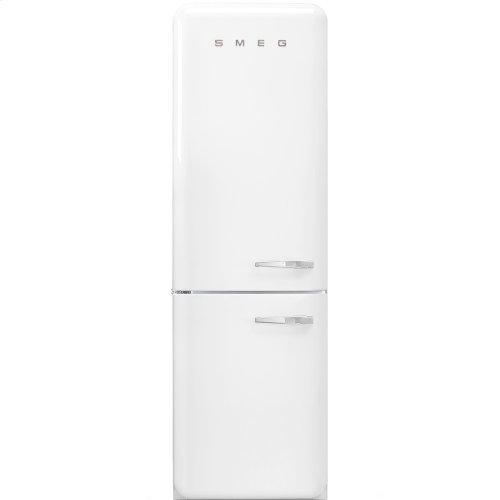 50'S Retro Style refrigerator with automatic freezer, White, Left hand hinge