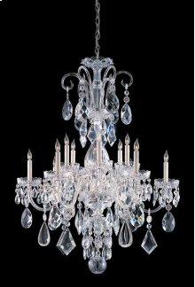 Traditional Crystal12 Light Clear Crystal Chrome Chandelier I