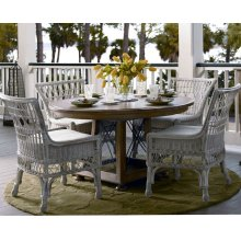 Breakfast Table and 4 Wicker chairs