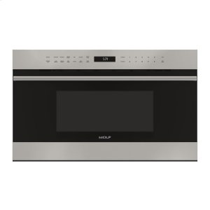 """WOLF30"""" E Series Transitional Drop-Down Door Microwave Oven"""