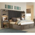 Precision - Full/queen Tall Upholstered Headboard - Gray Wash Finish Product Image