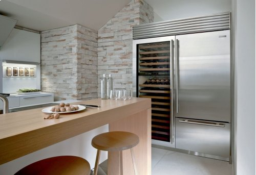 """36"""" Built-In Over-and-Under Refrigerator/Freezer with Internal Dispenser"""